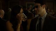 Murdock y Elektra conociéndose