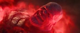 Thanos a punto de ser asesinado por Wanda