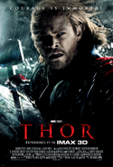 Thor on bifrost poster