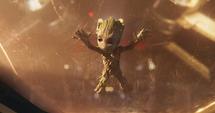 Groot luego de salir del Planeta Soberano