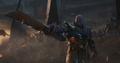 Thanos con su espada de doble filo