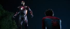 Iron Man tras salvar a Peter