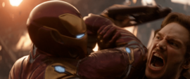 Stark detiene a Quill