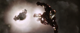 Stark lleva a Stane a lo más alto del cielo