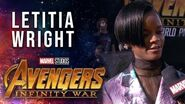 Letitia Wright Live from the Avengers Infinity War Premiere
