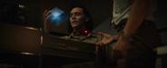 Loki holds the Tesseract