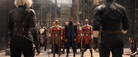 Romanoff y Rogers llegan a Wakanda