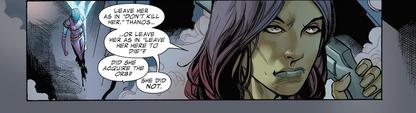 GotGP - Gamora recibe la orden de dejar a Nebula