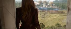 Wanda viendo la Batalla de Wakanda