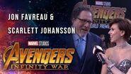 Scarlett Johansson and Jon Favreau Live at the Avengers Infinity War Premiere
