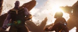 Thanos pelea con Stark