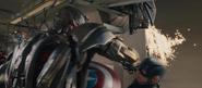 Ultron VS Capitán América Tren