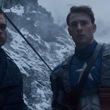 Bucky y Rogers en unas montañas nevadas.png