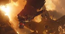 Quill apunta a Thanos