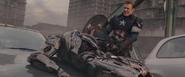 Rogers destruye Centinela de Ultron