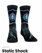 Static Shock SWORD socks on WandaVision Merchandise