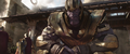 Thanos se cruza con Gamora