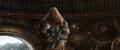 Volstagg es atacado por Hela