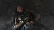 Loki beaten by Hulk