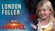 London Fuller (young Carol Danvers) talks girl power! Captain Marvel Red Carpet Premiere