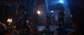 Thanos y la Orden Negra en la Estadista