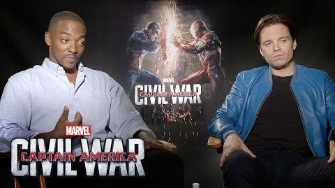 Anthony Mackie and Sebastian Stan on Marvel's Captain America Civil War