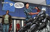 IM3P - Stark despoja las armas añadidas del Mark II