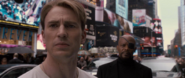 Steve Rogers y Nick Fury en Nueva York