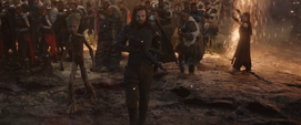 Barnes y Groot llegan a la Batalla de la Tierra