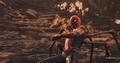 Parker usando su red en Titán
