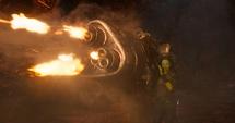 Gamora dispara contra Nebula
