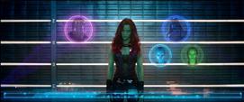 Prision Gamora holograma Thanos Ronan Nebula