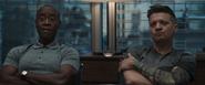 James Rhodes and Clint Barton