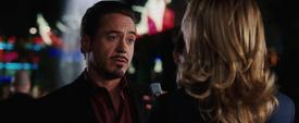 Stark siendo entrevistado - Iron Man
