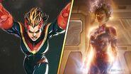 Captain Marvel's Looks Comics vs