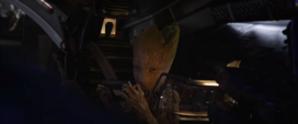 Groot insulta a Quill