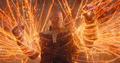 Thanos es confrontado por Strange