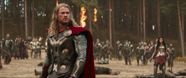 Thor en Vanaheim con Sif