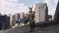 Loki en la cima de la Torre Stark