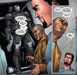 IM3P - Stark le presenta a Rhodes su nueva armadura