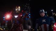 Iron Man con Capitan America en Alemania