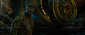 Groot se entera que no puede entrar en la cápsula