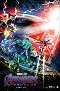 Avengers Endgame Illustrated poster