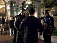 Loki and Captain America Behind the Scenes