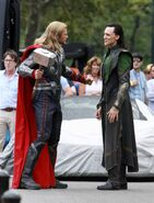 Thor and Loki Behind the Scenes