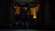 Murdock en una pelea con Fisk