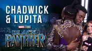 Chadwick Boseman & Lupita Nyong'o at Marvel Studios' Black Panther World Premiere Red Carpet