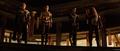 Sif y los Tres Guerreros ven a Loki en el trono