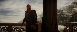 Thor viendo a su madre muerta