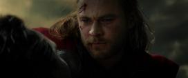 Thor durante la muerte de Loki